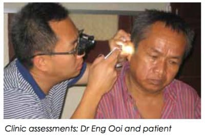 Clinic assessments - Dr Eng Ooi and patient