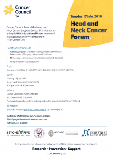 World Head and Neck Cancer Forum