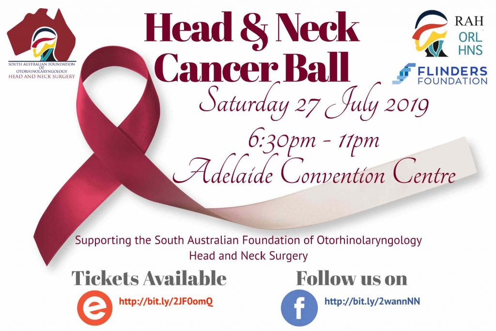 Head and Neck Cancer Ball flyer 2019