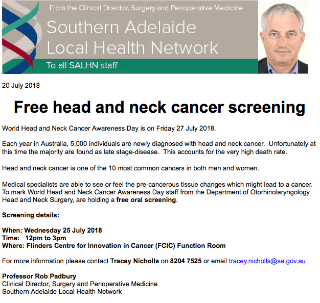 World Head and Neck Cancer Awareness